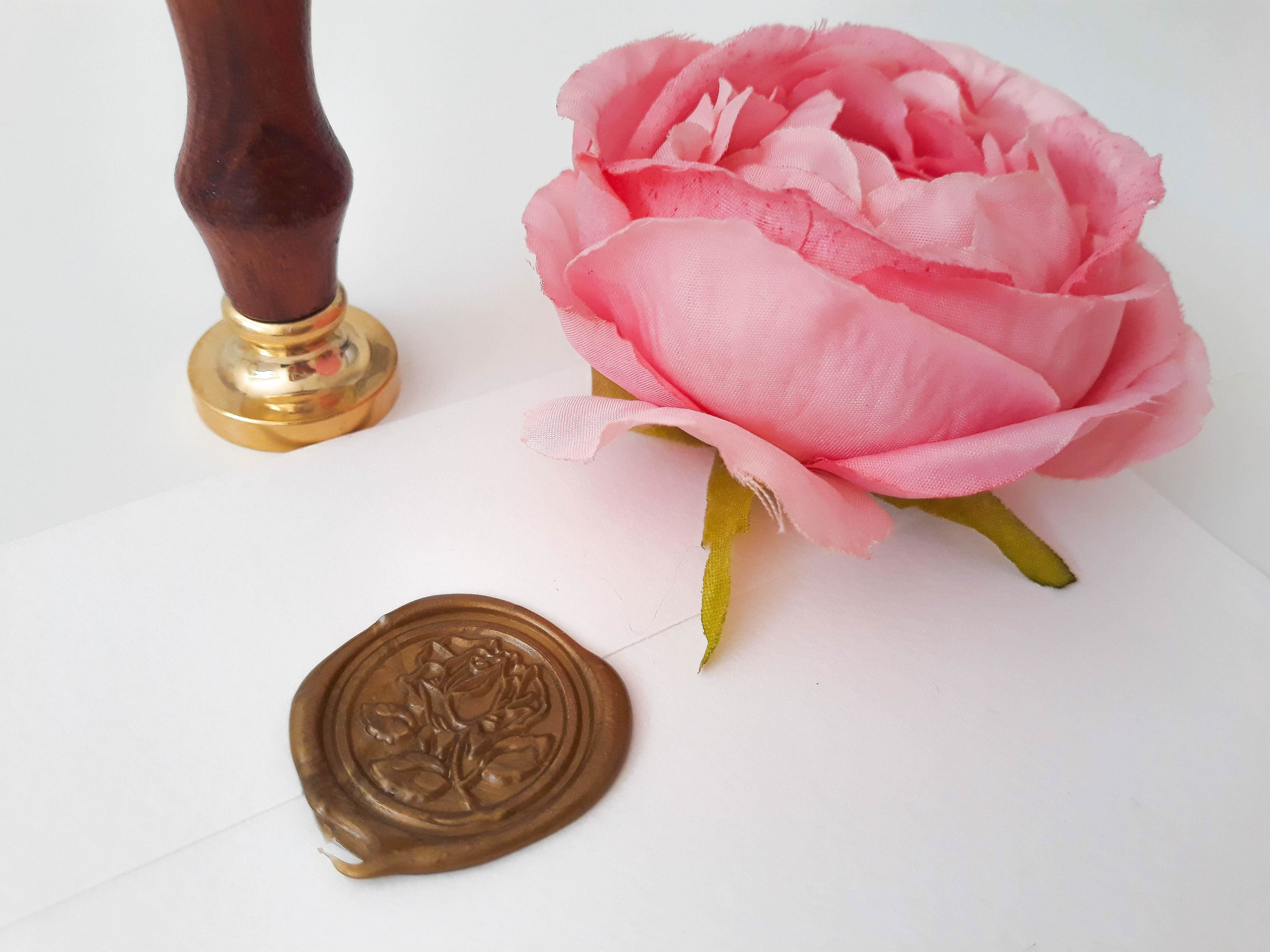 Ceralacca per Busta partecipazioni nozze matrimonio con rosa