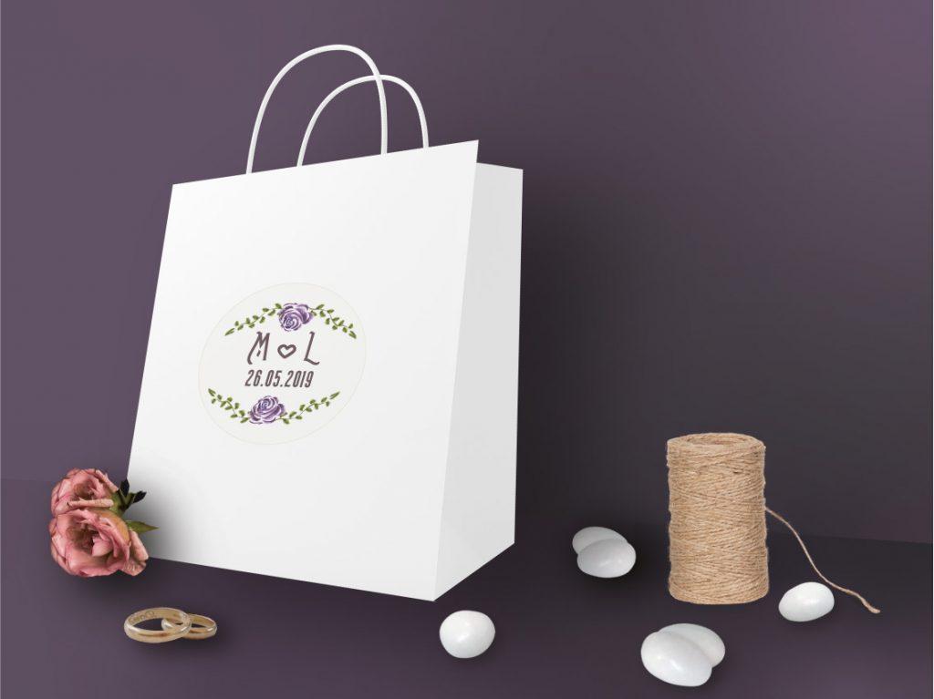 Wedding bag idee nozze Partecipazioni matrimonio 2021 tema fiori stile vintage