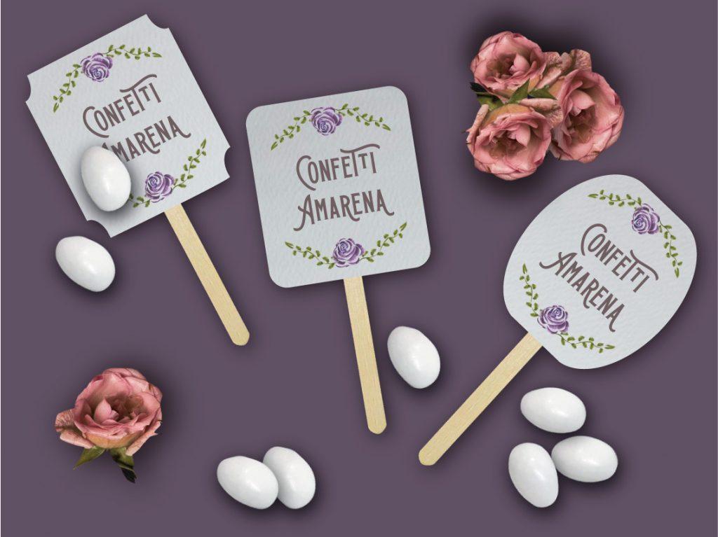 Segna gusto confettata Partecipazione di matrimonio 2021 tema fiori ultraviolet stile vintage con rose