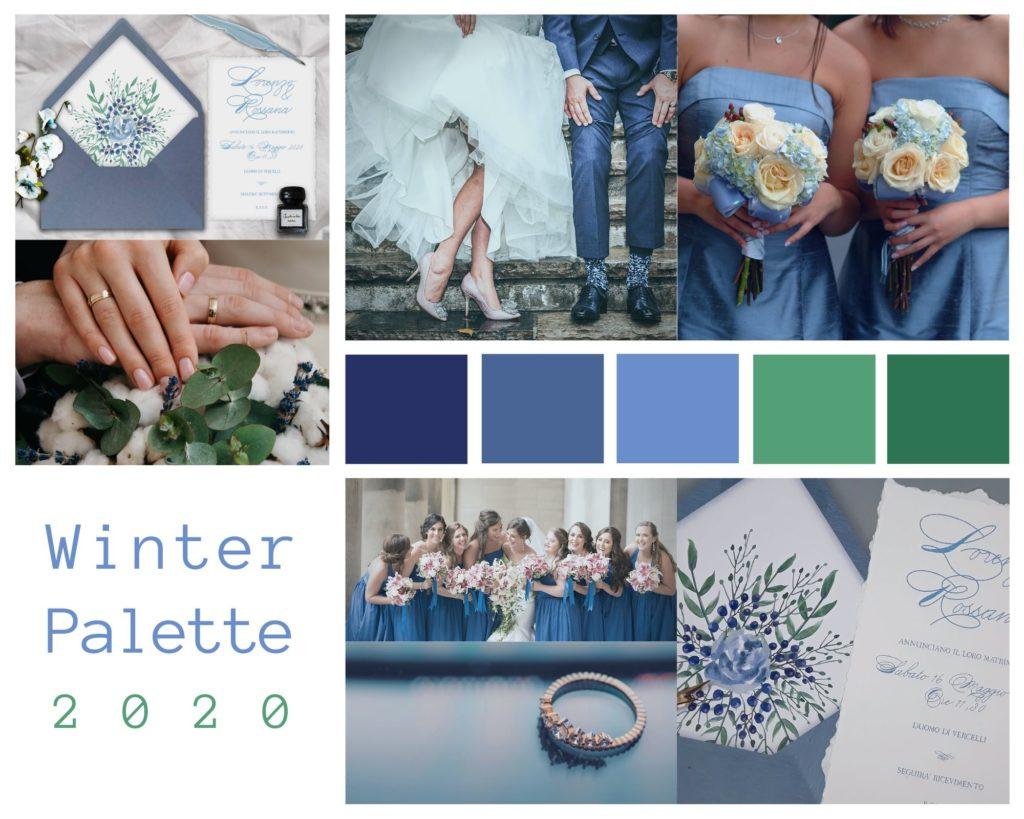 Colori Matrimonio Invernale 2020 - Palette by Le Cartasie