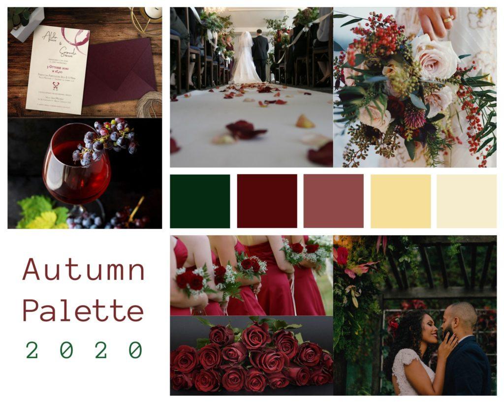 Colori Matrimonio Autunnale 2020 - Palette by Le Cartasie