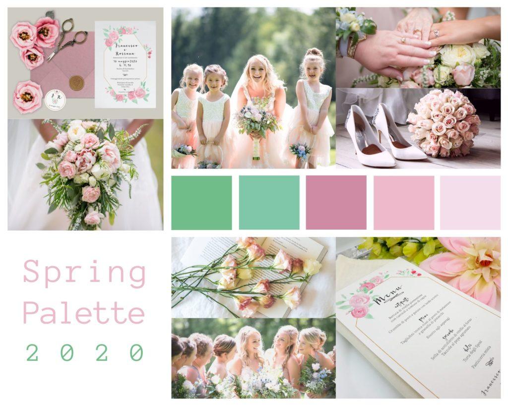Colori Matrimonio Primavera 2020 - Palette by Le Cartasie