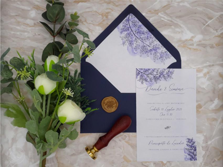Partecipazioni Matrimonio Novara.Partecipazioni Nozze Acquerello Ceralacca Novara Vercelli Torino