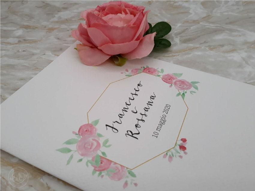 libretti-messa-matrimonio-online-personalizzati- con fiori rose
