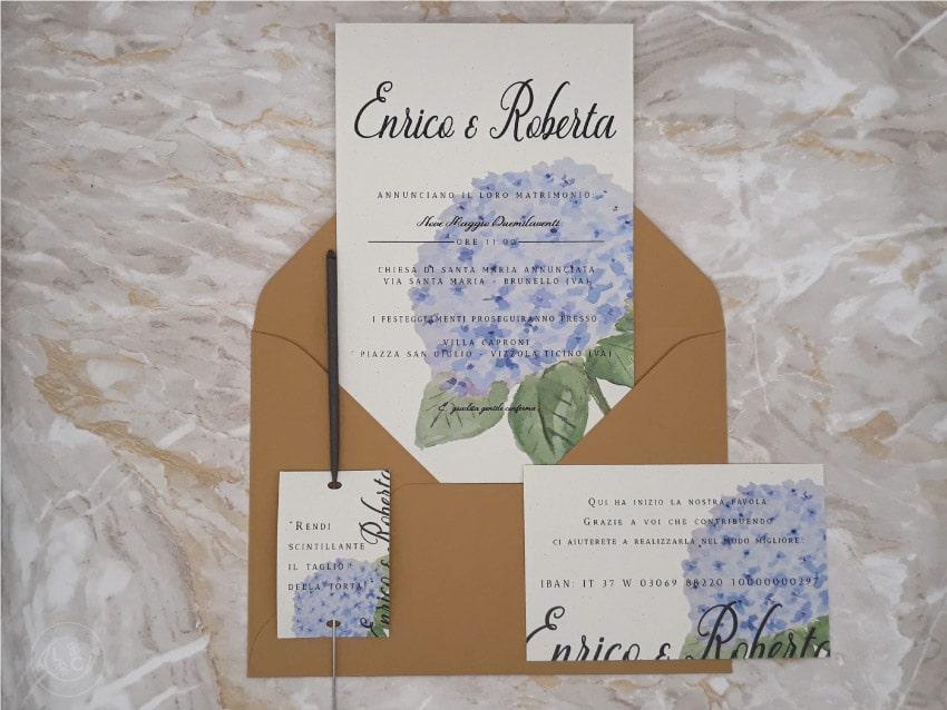 partecipazioni-carta-ecologica-riciclata - azzurra blu ortensia-