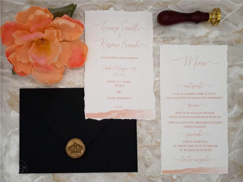 Partecipazioni Matrimonio Novara.Partecipazioni Di Classe Stile Calligrafico Matrimonio