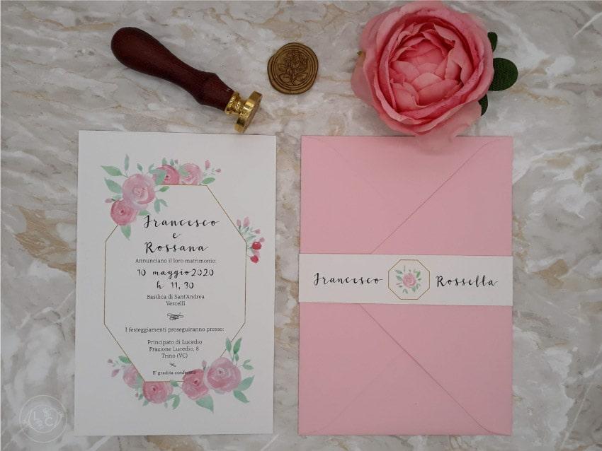 partecipazioni-fiori-rosa-buste-colorate-ceralacca