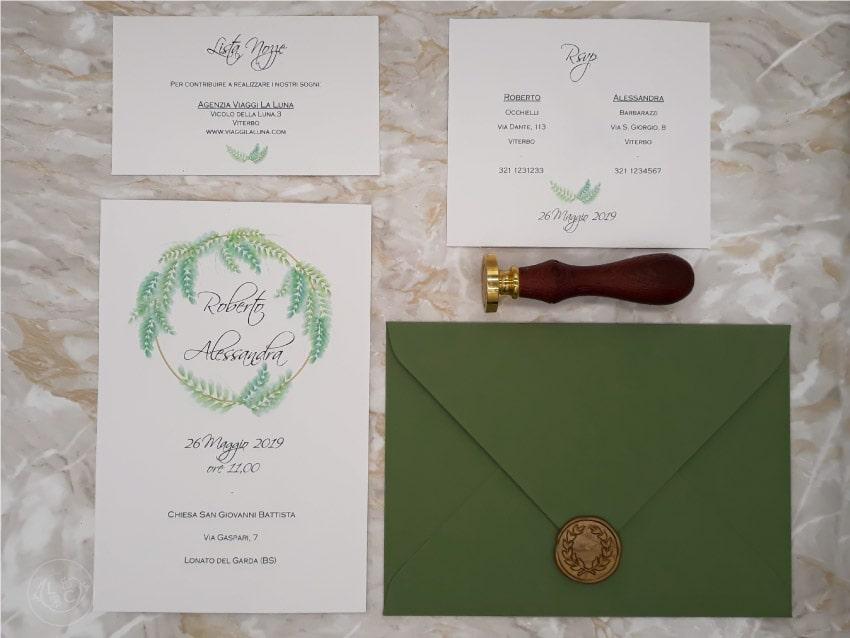 Partecipazioni Matrimonio Green.Partecipazione Nozze Tema Botanico Le Cartasie Vercelli Novara