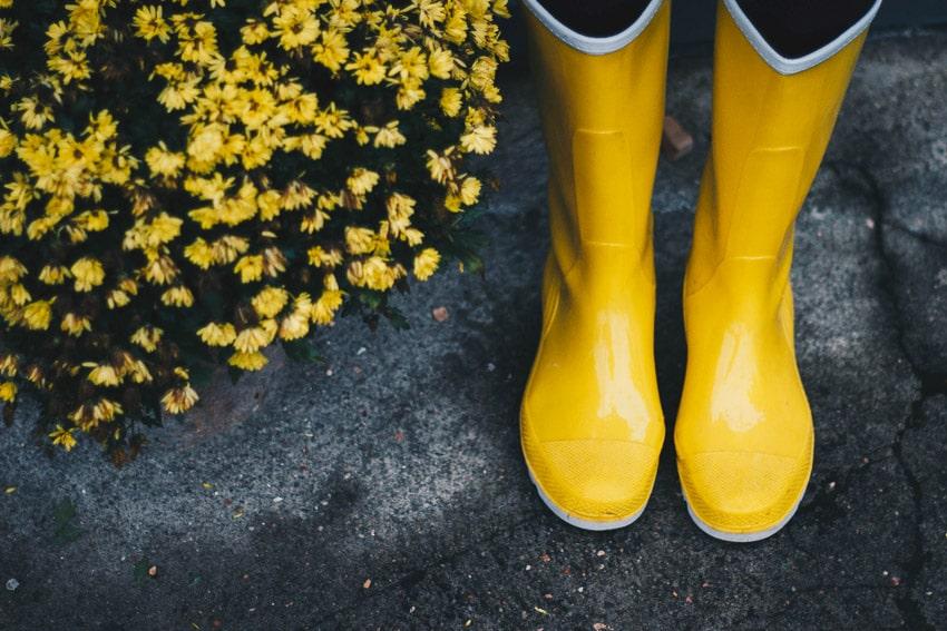 Stivali pioggia brutto tempo nozze matrimonio