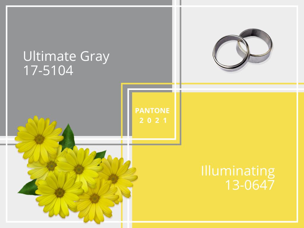 Pantone 2021 - matrimonio Ultimate gray - illuminating - Le Cartasie