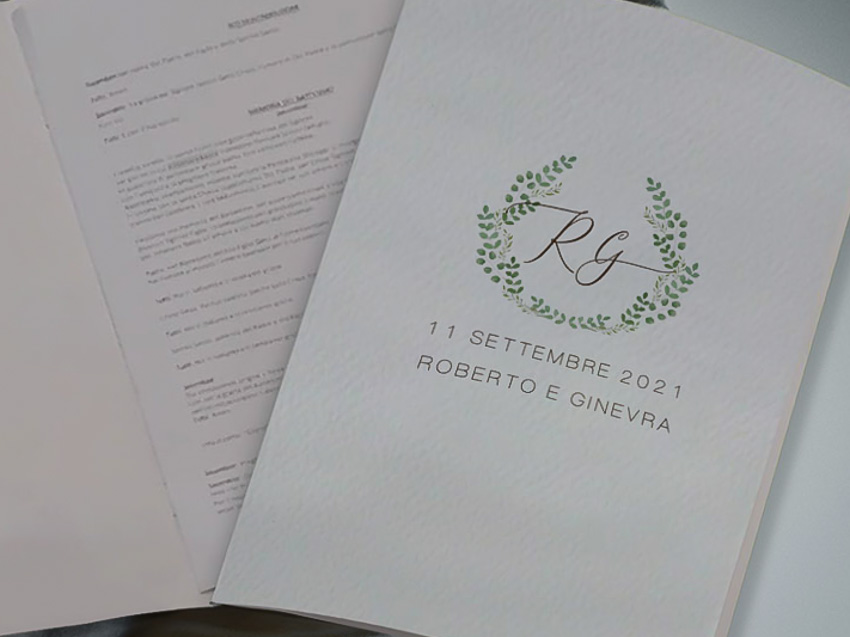 Libretti messa tema botanico 2 rami- le cartasie