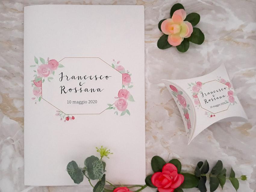 Libretto messa e scatolina bomboniera portaconfetti - Le Cartasie